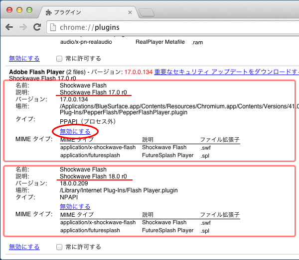 Flash player ブロック Adobe